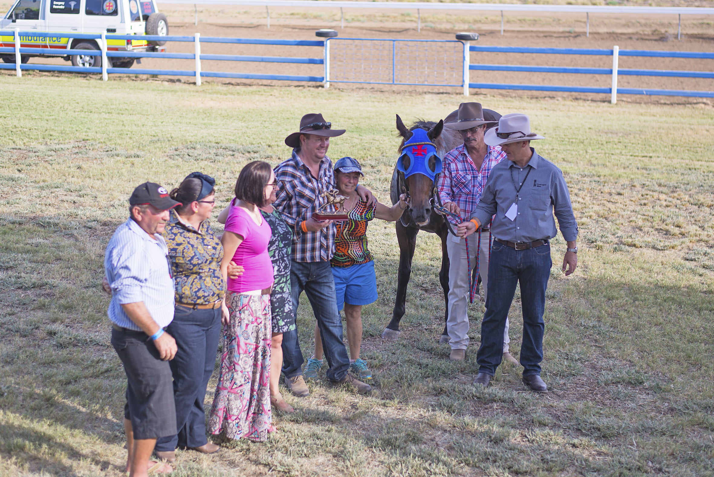 Denise and her team celebrating their win at the Julia Creek Races 2015