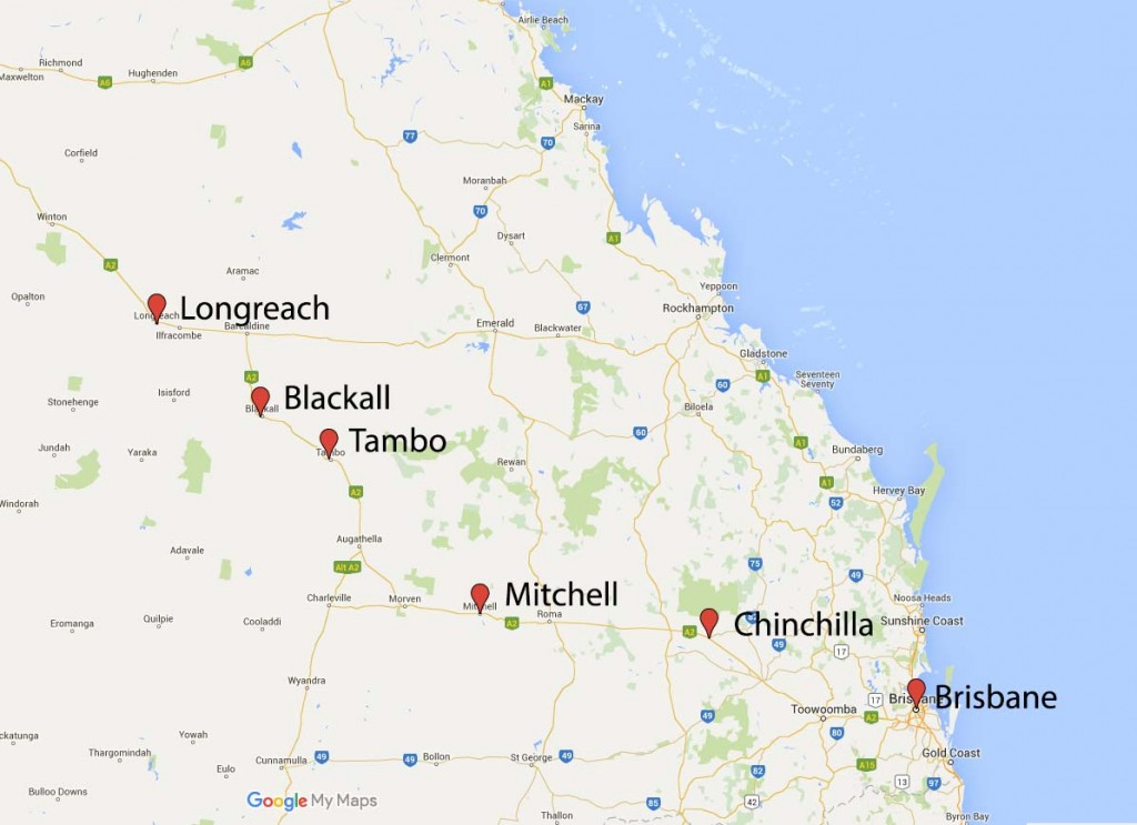 The Road to Longreach Map