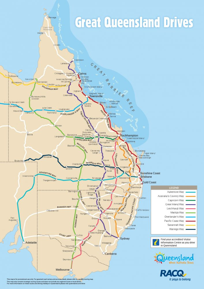 queensland drive map