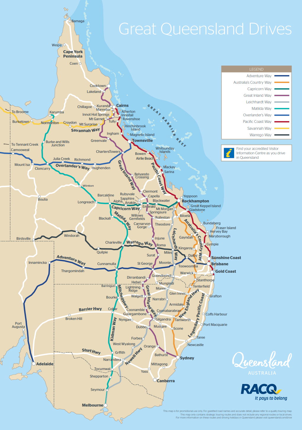 Detailed Map Of Queensland Australia.Queensland Drive Maps Outback Queensland