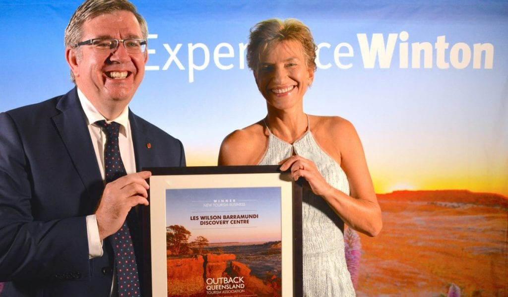 Outback Queensland Tourism Awards Paul Scarr and Verena Olesch
