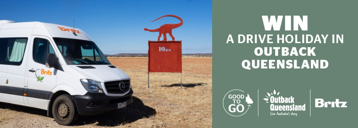 Outback Drive competition website banner